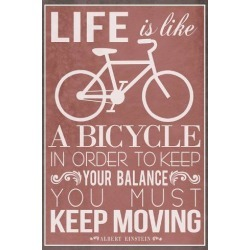 Art Print: Life Is Like a Bicycle, 18x12in.