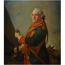 Giclee Painting: Liotard's Portrait of Maurice De Saxe, Marshal of Fra
