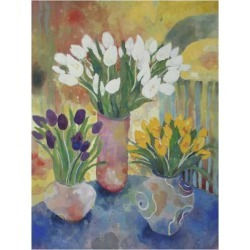 Giclee Painting: Platt's Hand Painted Vases, 24x18in. found on Bargain Bro from Allposters.com for USD $26.59