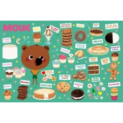 Poster: Mouk with Cakes in New York, 36x24in.