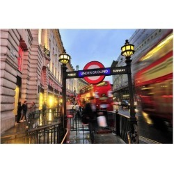 Giclee Painting: Piccadilly Circus Underground Station in Regent Stree