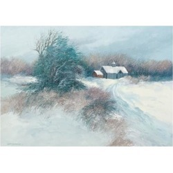 Giclee Painting: Swayhoover's Dovetail Farm, 18x24in.