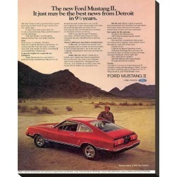 Stretched Canvas Print: 1974 Mustang II Best News, 22x18in.