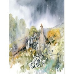 Stretched Canvas Print: McNaughton's Ruined Cottage, 48x36in. found on Bargain Bro from Allposters.com for USD $21.27