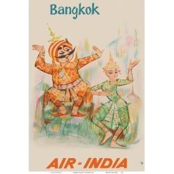 Art Print: Unknown's Bangkok, Thailand - Air India - Maharaja with Tha