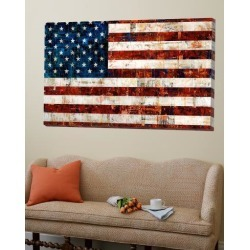 Loft Art: Bradley's American Flag, 48x72in.