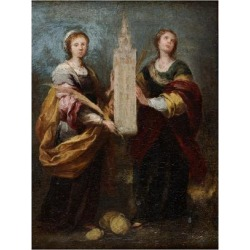 Giclee Painting: Murillo's Saints Justa and Rufina, Ca 1665, 24x18in. found on Bargain Bro Philippines from Allposters.com for $69.99