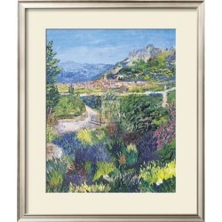 Framed Art Print: Forgione's Village of St. Agnes, 23x25in.