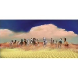 Art Print: Tillman's Horses In Heaven, 24x16in.