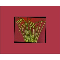 Giclee Painting: Hot pink tropical Grass, 18x24in.