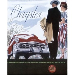 Giclee Painting: Poster Advertising a Chrysler, 1950, 24x18in. found on Bargain Bro Philippines from Allposters.com for $69.99