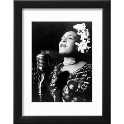 Framed Art Print: Jazz and Blues Singer Billie Holiday (1915-1959) in