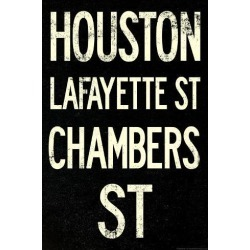 Poster: New York City Houston Chambers Vintage Subway Poster, 36x24in.