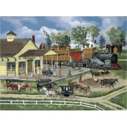 Giclee Painting: Fair's Train Station, 24x18in.
