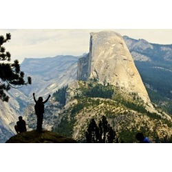 Poster: Friel's California, Excited Tourist at Yosemite National Park,
