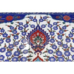 Poster: Schmies' Tile Mosaic, Inner Courtyard, Third-Biggest Mosque of