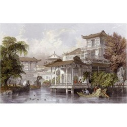 Art Print: Allom's Canton Merchant House, 24x16in. found on Bargain Bro India from Allposters.com for $38.99