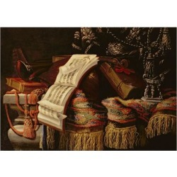 Giclee Painting: Fieravino's Still Life with a Book of Sheet Music, 24