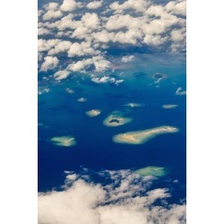 Photo Print: Su's Aerial View of Islands in the Ocean, Indonesia, 24x1