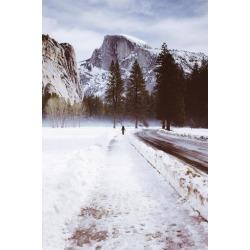 Poster: James' Winter Walk, Half Dome, Yosemite National Park, 24x16in
