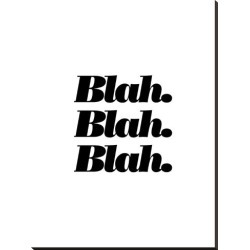 Stretched Canvas Print: Wilson's Blah Blah Blah, 44x33in. found on Bargain Bro Philippines from Allposters.com for $259.99