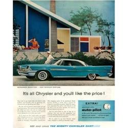 Giclee Painting: Chrysler New Windsor Dartline, 56x44in.