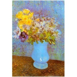 Poster: Vincent Van Gogh Vase with Lilacs Daisies and Anemones Art Pri found on Bargain Bro from Allposters.com for USD $6.83