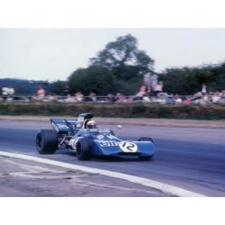 Poster: Tyrrell 003 driven by Jackie Stewart in 1971 British GP, 12x9i