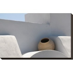 Stretched Canvas Print: Greek roof decoration, 10x15in.