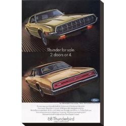 Stretched Canvas Print: 1968 Thunderbird 2 Doors or 4, 15x10in.
