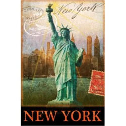 Giclee Painting: Vest's New York, Statue of Liberty, Manhattan, 56x44i found on Bargain Bro Philippines from Allposters.com for $90.49