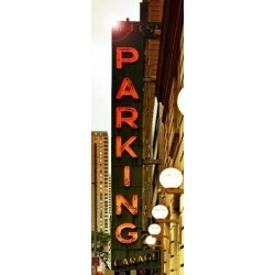 Poster: Hugonnard's Vertical Panoramic, Garage Parking Sign, W 43St, T