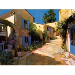 Giclee Painting: Craig's Village in Provence, 28x40in.