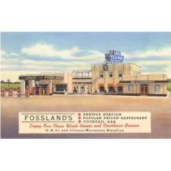 Art Print: Fossland's Service Station, 24x18in.