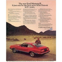 Giclee Painting: 1974 Mustang II Best News, 16x12in.