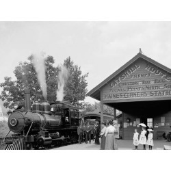 Photo Print: Catskill Mountain Railway Station, Haines Corners, Catski