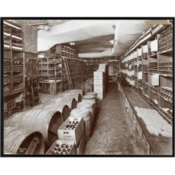 Giclee Painting: Byron Company's Wine Cellar at the Hotel Knickerbocke