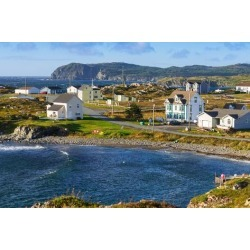Poster: New houses in Twillingate, Newfoundland and Labrador, Canada,