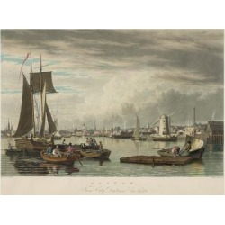 Art Print: Bennett's Boston from City Point Near Sea Street, 16x12in. found on Bargain Bro India from Allposters.com for $27.99