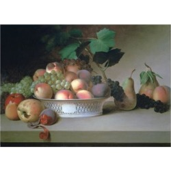 Giclee Painting: Peale's Abundance of Fruit, C1820, 24x18in.