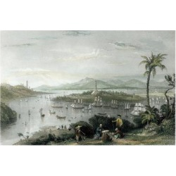 Art Print: Allom's Whampoa from Danes Island, 24x16in. found on Bargain Bro India from Allposters.com for $38.99