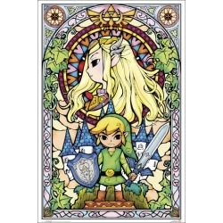 Poster: The Legend of Zelda- Stained Glass, 36x24in.