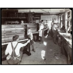 Giclee Painting: Byron Company's Men Working in the Hardman, Peck and