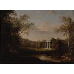 Giclee Painting: Kügelgen's View of the Friendship Temple in Pavlovsk,