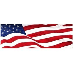 Giclee Painting: Pnoramic American Flag, 18x24in.