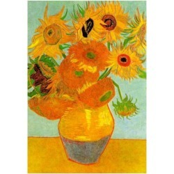 Poster: Vincent Van Gogh Still Life Vase with Twelve Sunflowers 2 Art found on Bargain Bro from Allposters.com for USD $6.83