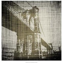Giclee Painting: Harper's Art Print: Bridges of New York Art Print by