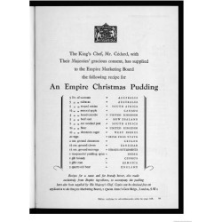 Giclee Painting: Recipe for Christmas Pudding, 24x18in.