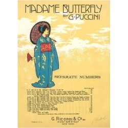 Art Print: Madame Butterfly Sheet Music, 24x18in.