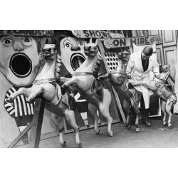Poster: Carousel Horses, 24x16in.